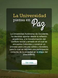 La Universidad piensa en paz